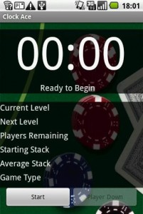 Poker Clock Android App Screenshot